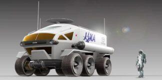 self-driving lunar rover car
