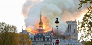 The Cathedral Notre-Dame is on fire