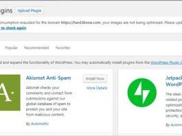 plugin installation in wordpress