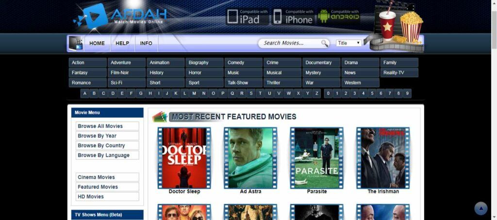 Afdah,  One of the best movie download sites to download your favorite show or a full hd movie