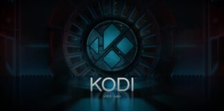 Kodi's opening logo, a Streaming app to watch movies online and TV shows