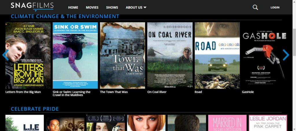 Snagfilms, One of the best movie download sites to download your favorite show or a full hd movie