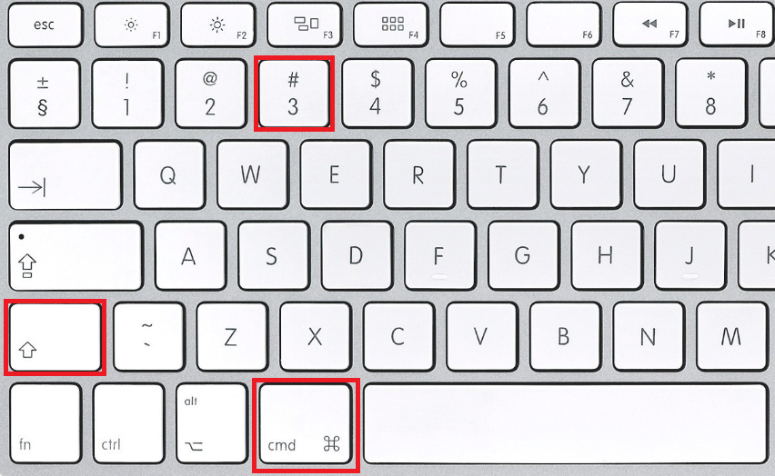 take print screen in mac system
